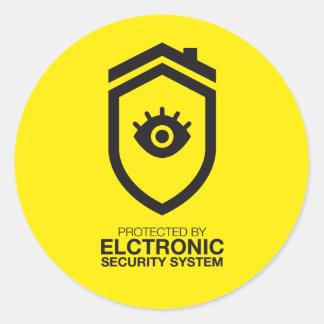 Sticker Rond Protégé par des systèmes de sécurité de