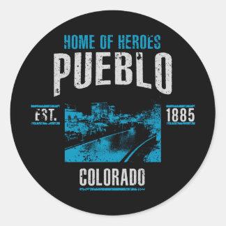 Sticker Rond Pueblo