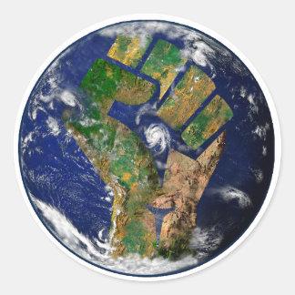 Sticker Rond Puissance de l'environnement