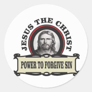 Sticker Rond puissance de pardonner le jc de péché