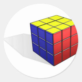 Sticker Rond Puzzle de cube