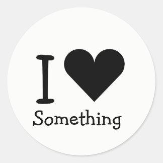 Sticker Rond Qu'aimez-vous ?
