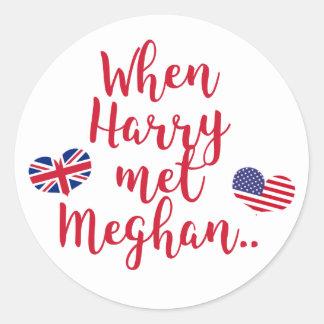Sticker Rond Quand Harry a rencontré le mariage royal