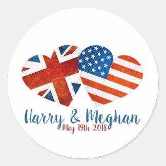 Sticker Rond Quand Harry a rencontré Meghan