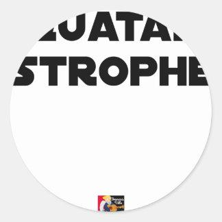 Sticker Rond QUATAR STROPHE - Jeux de mots - Francois Ville