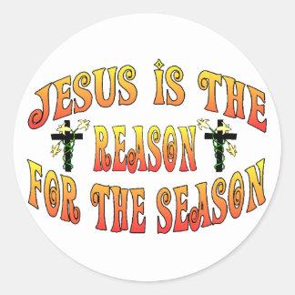 Sticker Rond Raison de saison