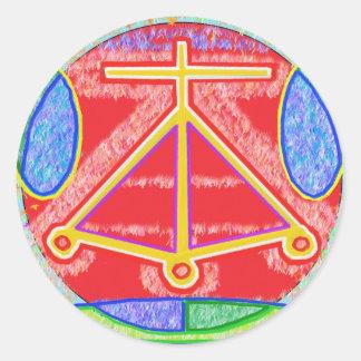 Sticker Rond RAMA - Signe curatif de Karuna Reiki par Navin