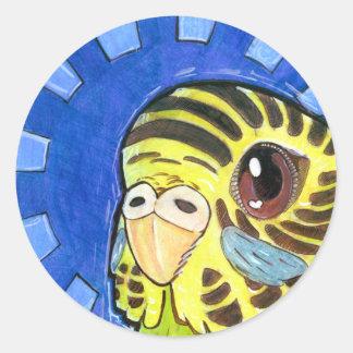 Sticker Rond Rayon de soleil de perruche, 1 pouce de ½ (feuille