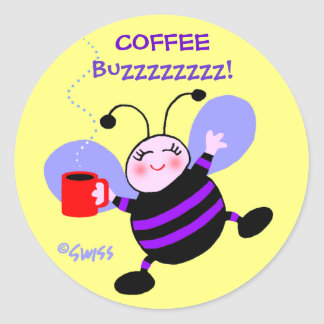 Sticker Rond Rayures mignonnes de pourpre de fourmi de