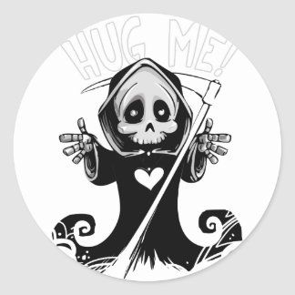 Sticker Rond Reaper-bébé mignon de Reaper-bande dessinée de