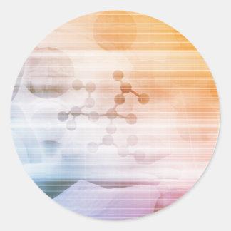 Sticker Rond Recherche et développement avec docteur Viewing