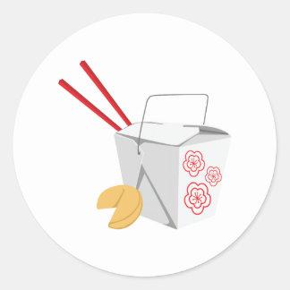 Sticker Rond Récipient de nourriture chinois