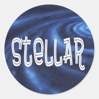Sticker Rond Reconnaissance et appréciation stellaires