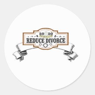 Sticker Rond réduisez la garde 50 du divorce 50