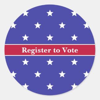 Sticker Rond Registre patriotique fait sur commande pour voter