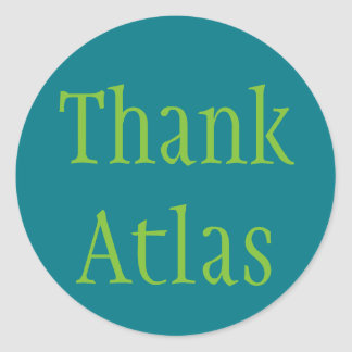 Sticker Rond Remerciez l'atlas