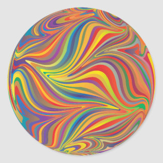Sticker Rond Remous de couleur