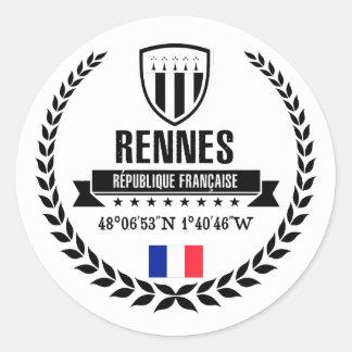 Sticker Rond Rennes
