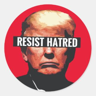 Sticker Rond Résistez à la haine