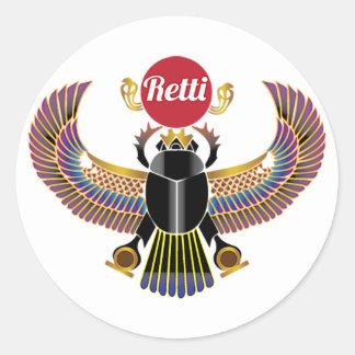 Sticker Rond Retti