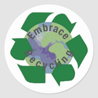 Sticker Rond Réutilisation d'étreinte