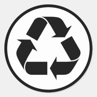 Sticker Rond Réutilisez le symbole