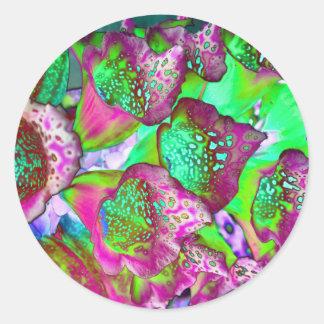 Sticker Rond rêve de couleur