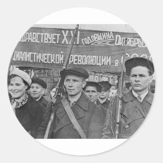 Sticker Rond Révolution d'octobre