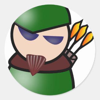Sticker Rond Robin Hood