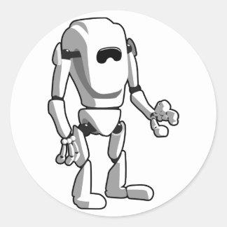 Sticker Rond Robot futuriste