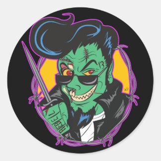Sticker Rond RockitJohnny_Zombie