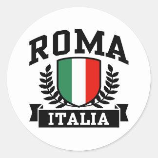 Sticker Rond Roma Italie
