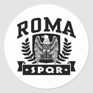 Sticker Rond Roma SPQR
