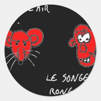 Sticker Rond Rongeur Songeur - Francois Ville