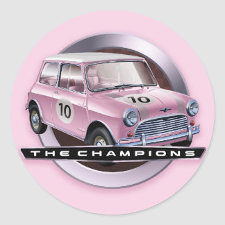 Sticker Rond Rose de Mini Cooper S