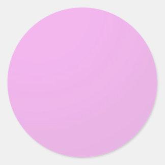 Sticker Rond Rose simple d'ombre : Écrivez dessus ou ajoutez