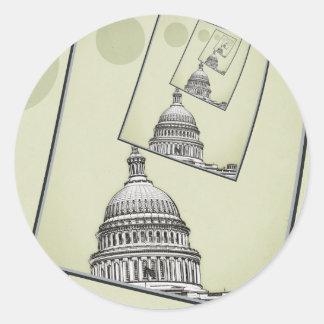 Sticker Rond Rotation politique
