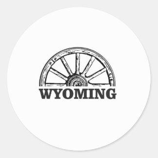 Sticker Rond roue du Wyoming