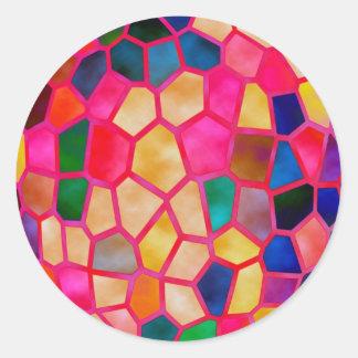 Sticker Rond Rougeoyer rouge-clair de STBX en cristal