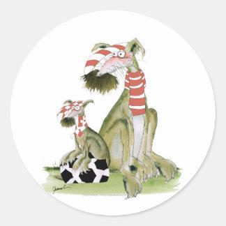 Sticker Rond rouges du football, tel père, tel fils