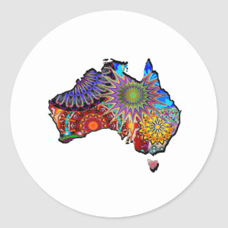 STICKER ROND ROYAUME AUSTRALIEN