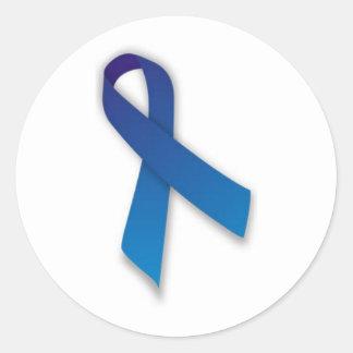 Sticker Rond Ruban de conscience de Spondylitis