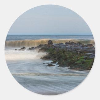 Sticker Rond Rythme de la mer