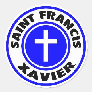 Sticker Rond Saint Francis Xavier
