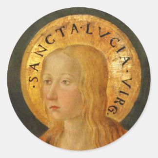 Sticker Rond Saint Lucy Lucia c1470