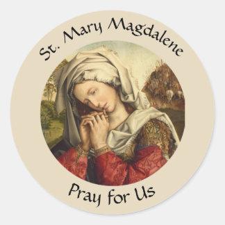 Sticker Rond Saint Mary Magdalene jour de fête 22 juillet