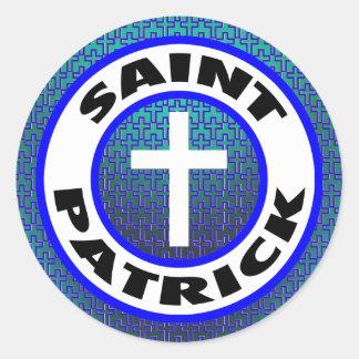 Sticker Rond Saint Patrick