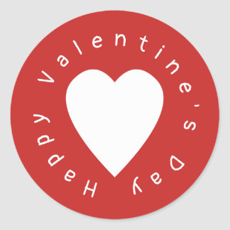 Sticker Rond Saint-Valentin de coeur