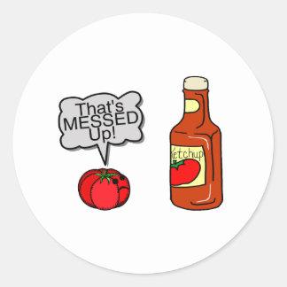 Sticker Rond Sali ketchup