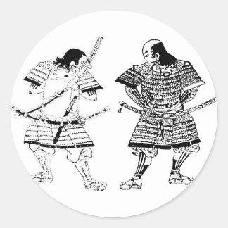 Sticker Rond Samouraï